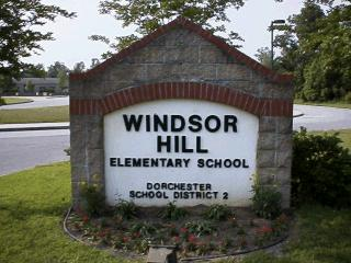 Sign for Windsor Hill Elementary School